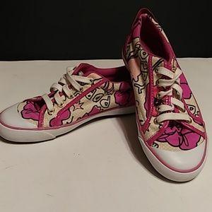 """Coach Poppy """"Barrett"""" Fashion Pink Canvas Shoe"""